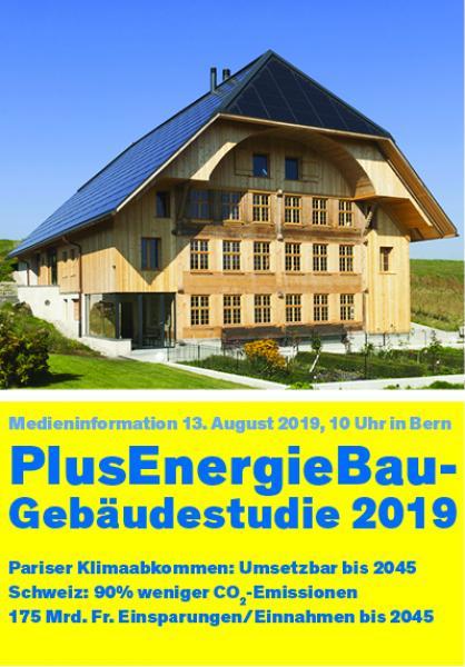 Medieninformation PlusEnergieBau (PEB) - Gebäudestudie 2019