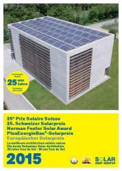Schweizer Solarpreis / Prix Solaire Suisse 2015