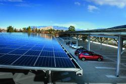 Das solare Parkhausdach.