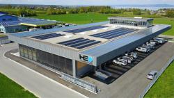 Drei PV-Anlagen mit einer Leistung von insgesamt 156 kWp erzeugen rund 155'029 kWh/a.