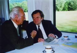 Prof. Hans-Urs Wanner im Gespräch mit Prof. Wolfgang Paltz, 1991.