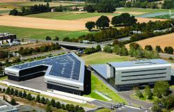 Das in einer V-Form erstellte Industriegebäude der Uhrenfabrik Vacheron Constantin.